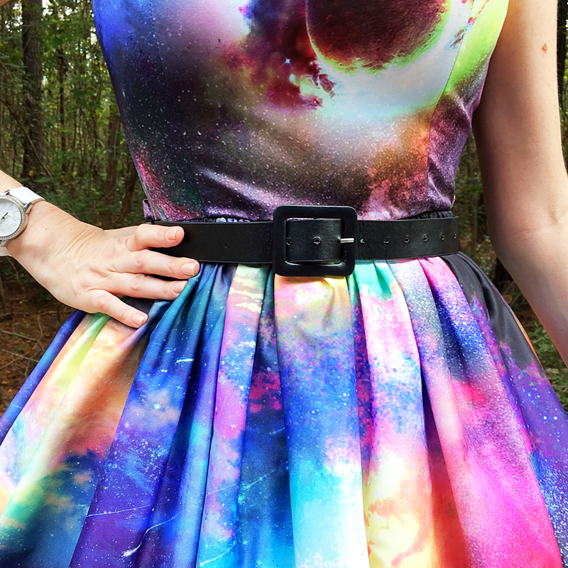 {Review} Bad Moon Rising: Annie Night Sky Print Swing Dress - The Dressed Aesthetic