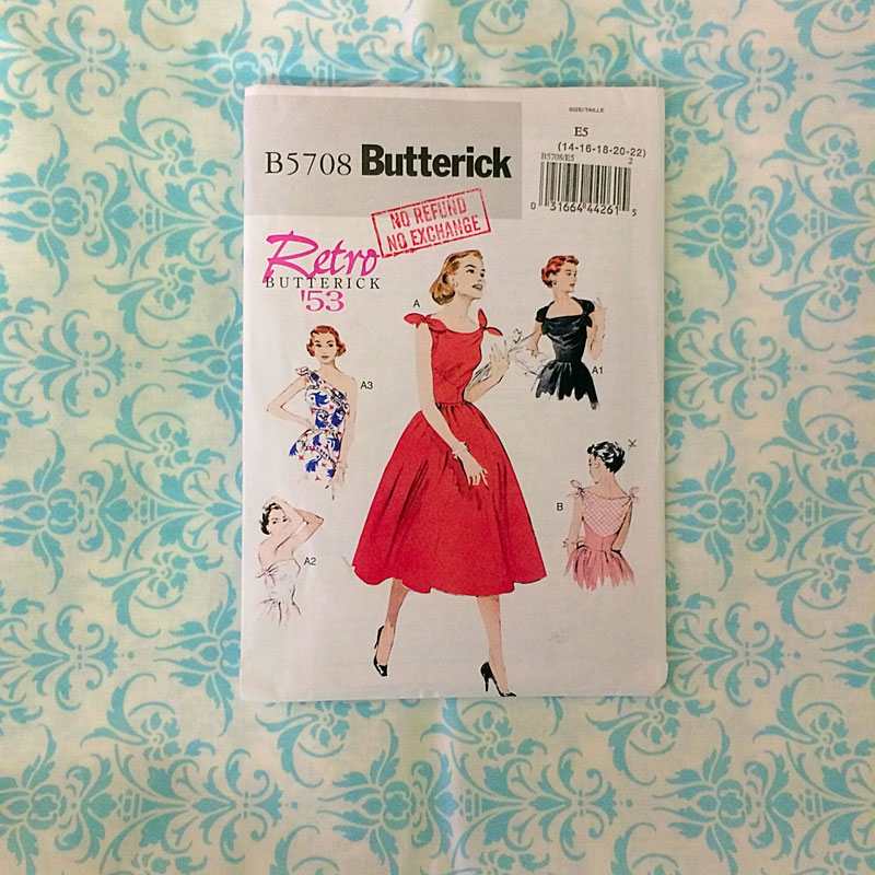 {Sewing}: The Counterdanse (Retro Butterick B5708) - The Dressed Aesthetic