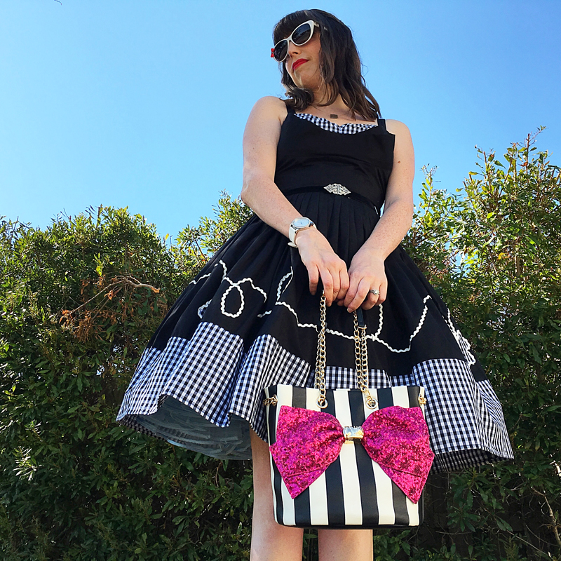 Monochrome…almost - The Dressed Aesthetic (Trashy Diva Lena Picnic Dress)