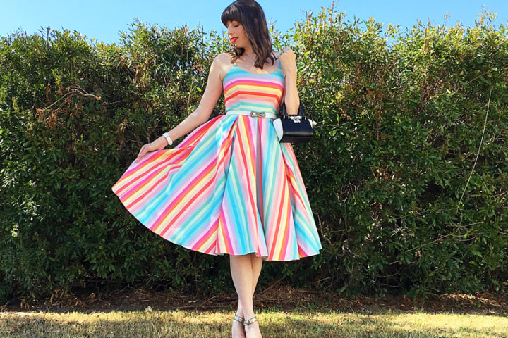 A Princess State of Mind - The Dressed Aesthetic (Priscilla Candy Stripe Midi Dress)