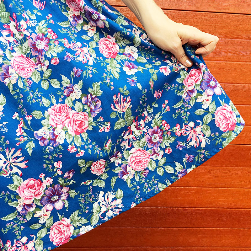 {Review} : Singing the Blues: Petal Vintage Floral Swing Dress - The Dressed Aesthetic